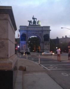 Grand Army Plaza at dawn